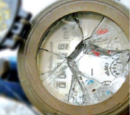 frost bedingte  defekte an Wasserzählern …